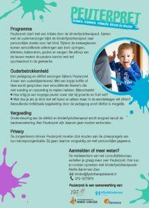 Peuterpret Leidschendam - Voorburg flyer achterkant